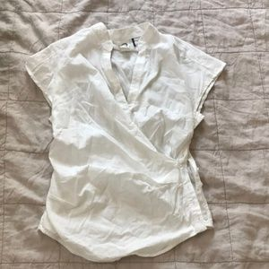 Anthropologie Cotton Short-sleeved Wrap Blouse (0)